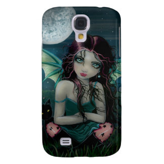 Cute Vampire Fairy and Moon Gothic Fantasy Art Galaxy S4 Case