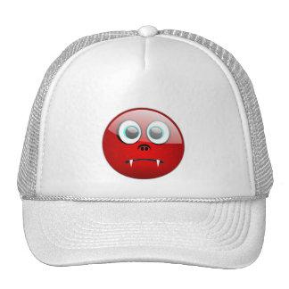 CUTE VAMPIRE SMILEY MESH HAT