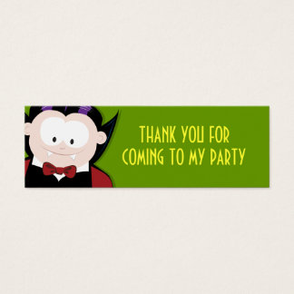 Cute Vampire Thank You Party Favour Cards