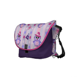 Cute vector Messenger bag with Fashion Owls
