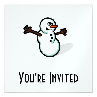 Cute Vector Snowman - Color Personalized Invite