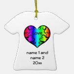 Cute victorian rainbow heart commemorative ornaments