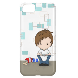 Cute Video Game Playing Emo Boy Cartoon iPhone 5C Case
