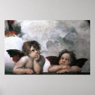 Cute Vintage Angels Raphael Fine Art Posters