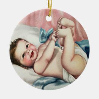 Cute Vintage Baby Ornament