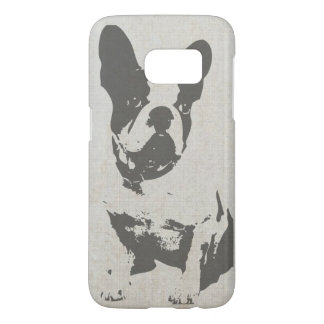 Cute Vintage Black and White French Bulldog