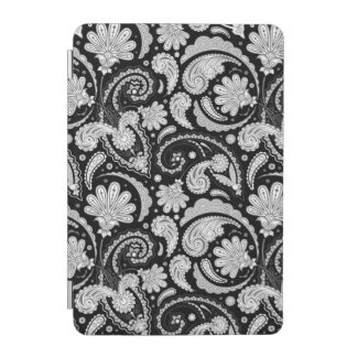 Cute vintage black white paisley patterns iPad mini cover