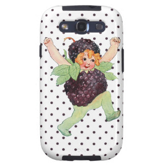 Cute Vintage Blackberry Girl Samsung Galaxy S3 Cases