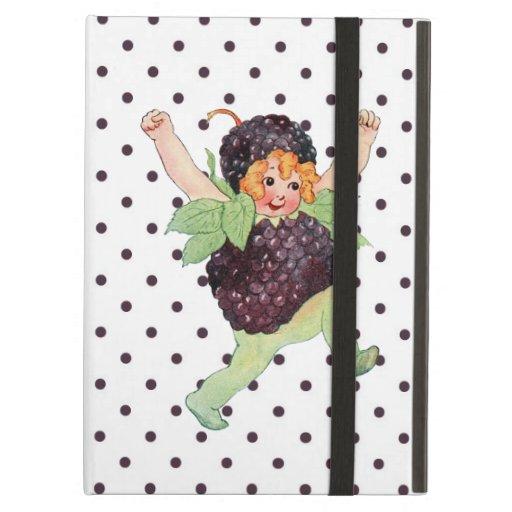 Cute Vintage Blackberry Girl iPad Folio Case