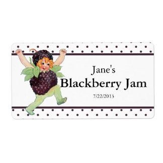Cute Vintage Blackberry Jam Shipping Label