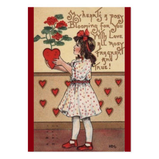Cute Vintage Children's Valentine's Day Cards Pack Of Chubby Business Cards