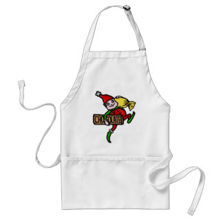 Cute Vintage Christmas Elf with Candy Adult Apron