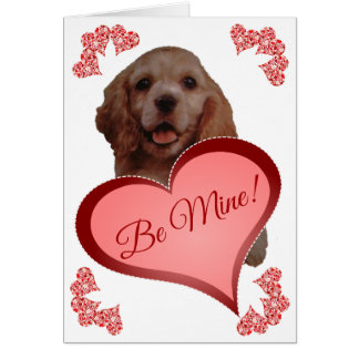 Cute Vintage Cocker Spaniel Custom Valentine Card