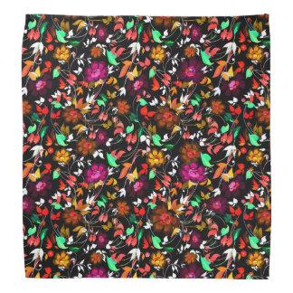 Cute vintage colorful floral texture bandana