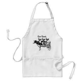 Cute Vintage Country kitchen animal apron