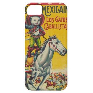 Cute Vintage Cowboy Cat Mexican Gatos Caballistas Case For The iPhone 5