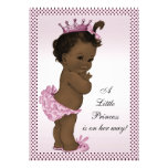 Cute Vintage Ethnic Princess Baby Shower Personalized Invitations