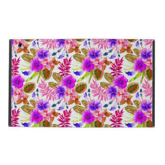 Cute vintage floral patterns iPad case