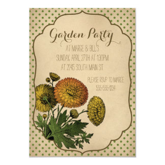 Cute Vintage Garden Party Invitations
