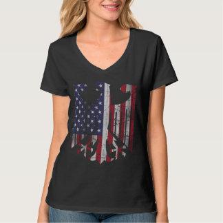 Cute Vintage German American Heritage Flag Eagle T-shirt