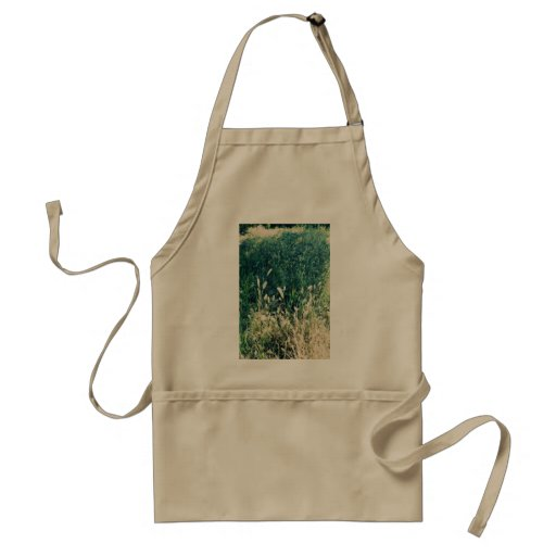 Cute vintage green and yellow grass photo apron