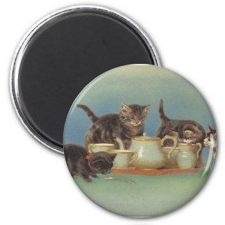 Cute Vintage Kitties Magnet