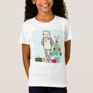 Cute Vintage Pastel Holiday Robot & Tree T-Shirt