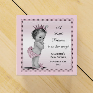 Cute Vintage Princess Baby Shower Thank You Wedding Favor Box