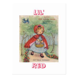 Cute Vintage Red Riding Hood Postcard