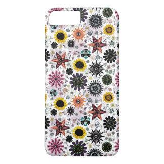 Cute vintage seamless flowers pattern iPhone 7 plus case