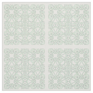 Cute Vintage Style Mint White Pattern Fabric
