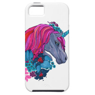 Cute Violet Magic Unicorn Fantasy Illustration iPhone 5 Covers