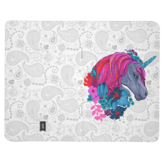 Cute Violet Magic Unicorn Fantasy Illustration Journal