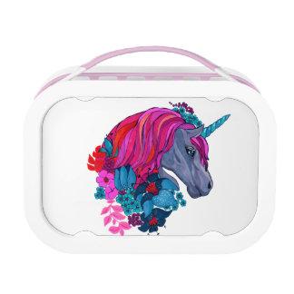Cute Violet Magic Unicorn Fantasy Illustration Lunch Box