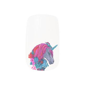 Cute Violet Magic Unicorn Fantasy Illustration Minx Nail Art