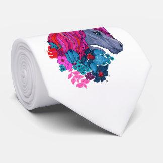 Cute Violet Magic Unicorn Fantasy Illustration Tie