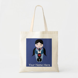 Cute Violin Doll Tote Bag-Add Your Name