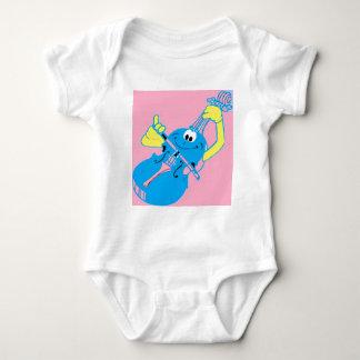 cute_violin_love baby bodysuit