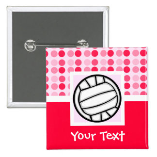 Cute Volleyball 15 Cm Square Badge