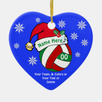 Cute Volleyball Christmas Ornaments PERSONALIZED