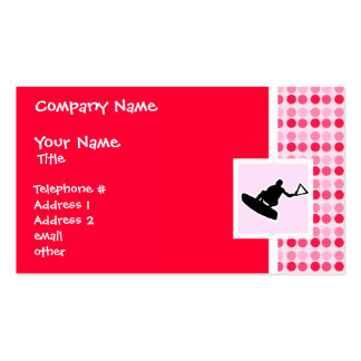 Cute Wakeboarder Pack Of Standard Business Cards