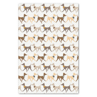Cute Walking Hounds Tissue Paper