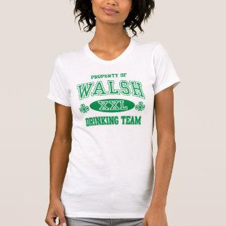 Cute Walsh Irish Drinking Team Tshirt