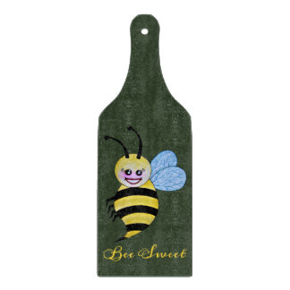 Cute Watercolor Bee With Happy Smile Cutting Board