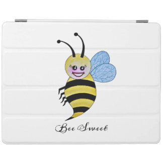 Cute Watercolor Bee With Happy Smile iPad Cover