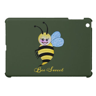 Cute Watercolor Bee With Happy Smile iPad Mini Cover