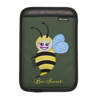 Cute Watercolor Bee With Happy Smile iPad Mini Sleeve