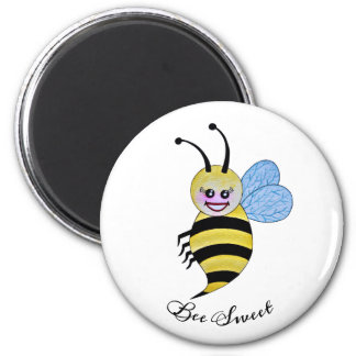 Cute Watercolor Bee With Happy Smile Magnet