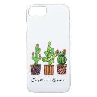 Cute Watercolor Cactus In Pots iPhone 8/7 Case