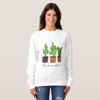 Cute Watercolor Cactus In Pots Sweatshirt